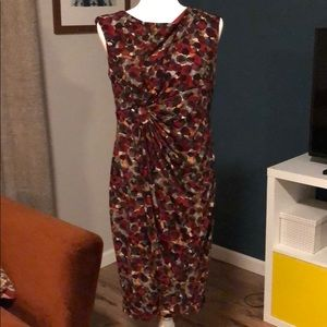 Connected Apparel maroon stretch dress